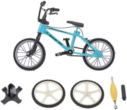Bonarty Mini Bicycle Handicraft - Alloy Metal Bike Model Spare Tire and Tool Set Decorative Creative Game Toy Gift - Light Blue / Bonarty Mini Bicycle Handicraft - Alloy Metal Bike Model Spare Tire and Tool Set Decorative Creative ...