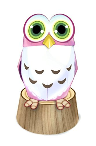 Owl Chic High Quality Animal Paper Craft Mini Model Easy Fun