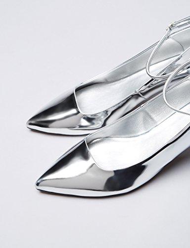 FIND Maru, Women's Closed-Toe Pumps Silver