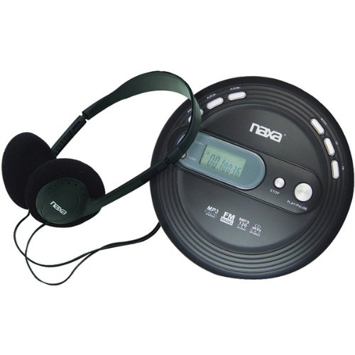 NAXA NPC330 Slim Personal CD/MP3 Player with FM Radio PET2