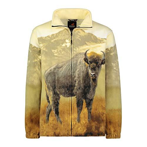 - TrailCrest Men's Women's Sweater Jacket Full Zip Fleece American Bison Sweatshirt Wildkind