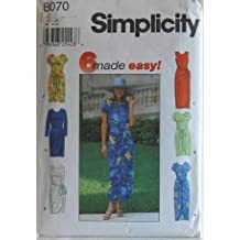 Simplicity 8070 - 6 Made Easy Wrap Skirt Dresses Sewing Pattern - Misses' Size: H (6, 8, 10)