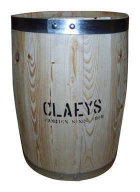 Claey'S Empty Wooden Barrel 18 In. H X 14 In. Dia