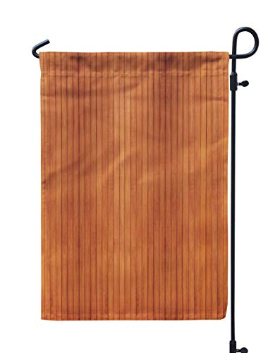(Soopat Wood Seasonal Flag, Wood Wood Wood Floor Wall Panel Old Cherry PineWeatherproof Double Stitched Outdoor Decorative Flags for Garden Yard 12''L x 18''W Welcome Garden Flag)