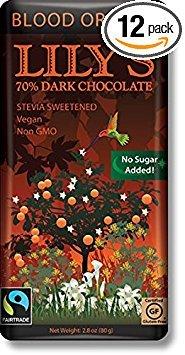Lilys Swts Lilys Stvia Dk Chocolate Orange 2.8 Oz (Pack Of 12) (Milk Chocolate Orange Bar)