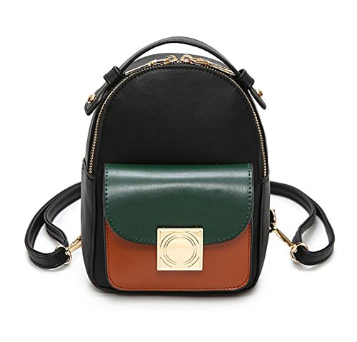 5 21 Casual Backpack 5cm Multi Women's 17 Handbag function Bag Leather Soft Fashion 8 pu qagZPc