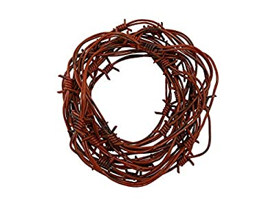 Nicky Bigs Novelties 24' Fake Rusted Barbed Barb Wire Halloween Decoration Rusty Wire Prop Garland