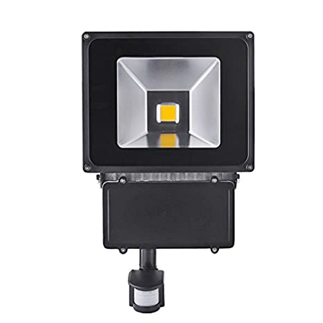 Foco LED 100w con Sensor de Movimiento de Alto Brillo Interior / Exterior -LED de