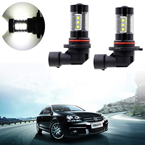 2PCS 9006LL 9006 HB4 Fog Light LED Bulbs Driving Light 16SMD 80W White 6000K Extremely Super Bright High Power