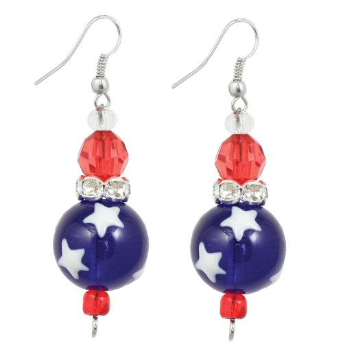 Clementine Design Kate & Macy All for America Earrings Painted Glass - Macy's America