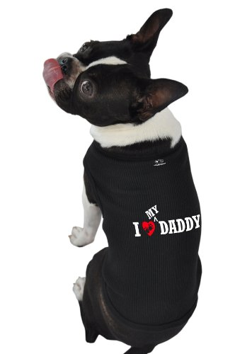 Doggie Tank Top, I Love My Daddy, Black, Large, My Pet Supplies