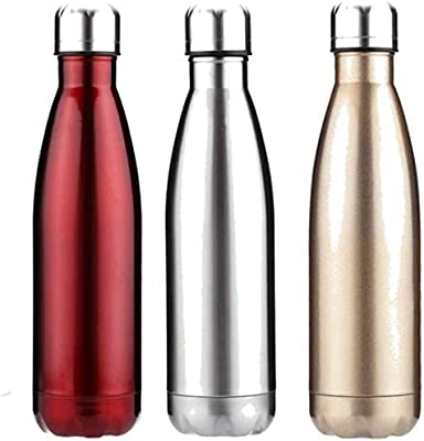 HAMY Botella de Agua, 500 ml, Acero Inoxidable, Doble Aislamiento ...
