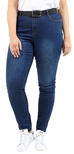 amp; Dark Dames Jeans Denim Tonal Stretch Pantalons Maigre Dlav 44 Plus Lav Nouveau Denim Couture 50 Fit ZtpqRfZwcx