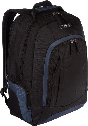 Targus Urban II Backpack Designed for 16-Inch Laptops – TSB196US (Black/Navy Trim), Bags Central