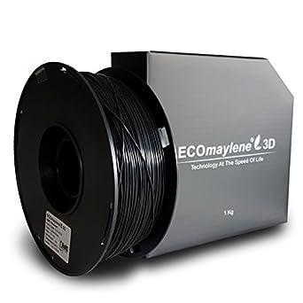 Café negro ecomaylene3d ABS Filamento Impresora 3d, bobina de 1 kg ...