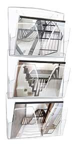CEP 1001700111 - Lote de 3 bandejas murales, color cristal