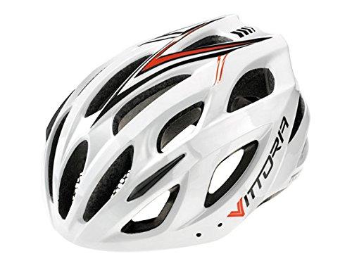 Vittoria Cycling V110L Helmet, White/Black/Red, Small/Medium