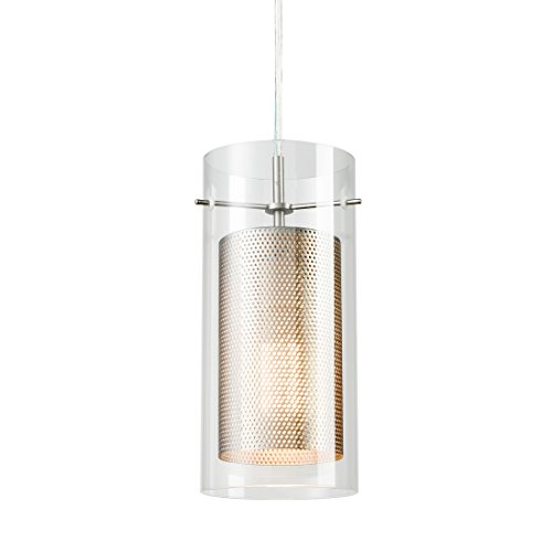 Cylinder Hanging Pendant - Axiland Modern Glass Cylinder Pendant Double Shades Hanging Fixture