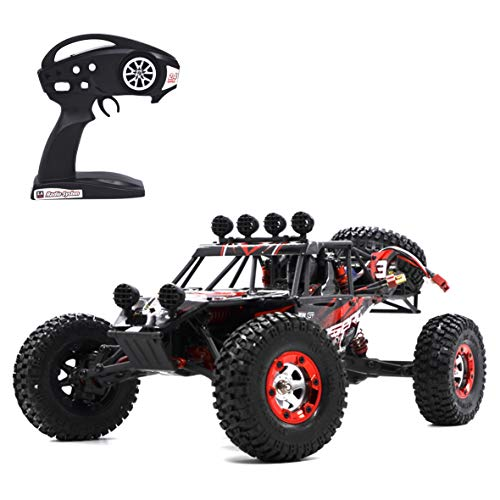 Aiitoy Electric Remote Control Truck, 1: 12 Large Scale 4WD 2.4Ghz Off-Road Vehicle Rock Crawler, High Speed All Terrain RC Car, Rechargeable & Splash Waterproof (FY03),Red