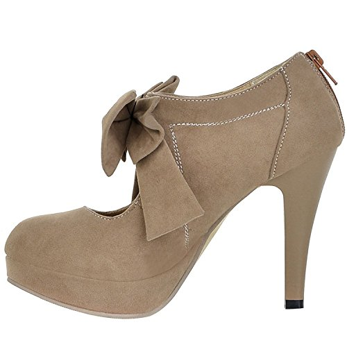 Front Bow Camel Leather - 9