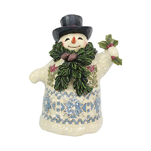 Enesco Jim Shore Heartwood Creek Victorian Snowman with Scarf Figurine, 5