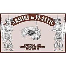 Zulu War 1879 uThulwana Regiment Zulu Set #1 (18) 1/32 Armies in Plastic