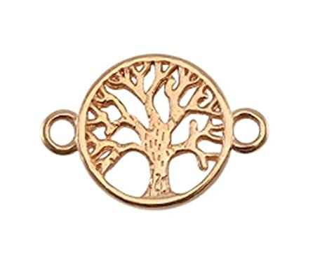 3 St/ück 22x15 mm Anh/änger Baum Sadingo Schmuckverbinder Lebensbaum Set aus DQ Metall Armband Lebensbaum basteln
