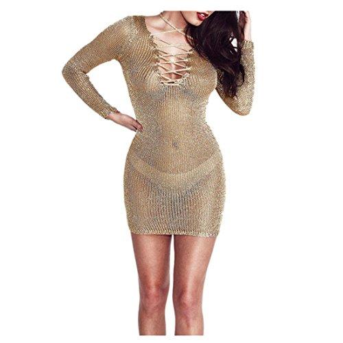 Amiley Summer Sexy Split Slit Mesh Sheer Bikini Cover Up ...