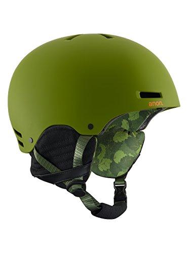 2012 Burton Mens Snowboard (Burton Raider Helmet, Mad Trees Green, Large)