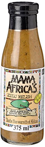 Mama Africa's Jalapeno Sauce, Lemon and Garlic Relish, 375ml