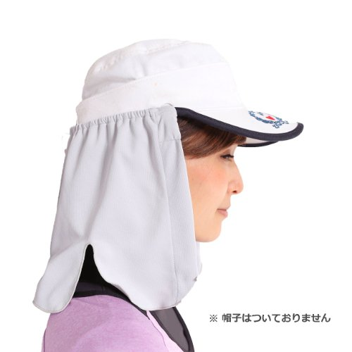 熱中症予防ネックシェード(帽子のたれ、フラップ)