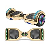 TPS 6.5' Hoverboard Electric Self Balancing Scooter with Speaker and LED Lights - UL2272 Certified (Chrome Gold)