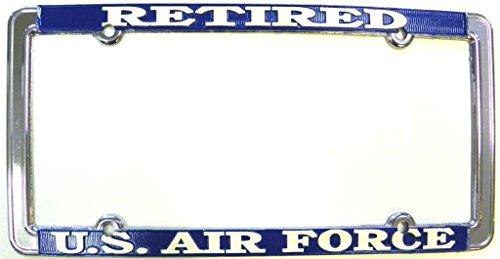 TAG FRAMES (MILITARY) U.S. Air Force Retired Thin Rim License Plate Frame (Chrome Metal)