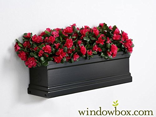 36 inch Black Supreme Fiberglass Window Box Black Fiberglass Window Box