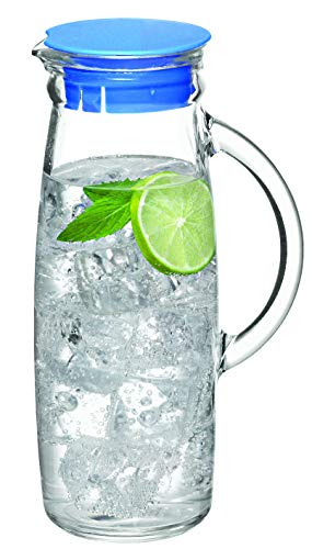 Glasslock Glass Water Jug with Lid, 1000 ml Capacity, Clear, IJ-922