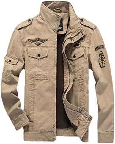 メンズ リラックス フィット ピー コート ロングスリーブ ポケット ウィンドブレーカー ジャケット
