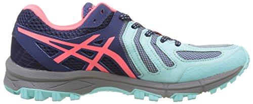 5 Indigo Asics Aqua Pink Damen Blue Running Gel Splash Mehrfarbig Schuhe Diva FujiAttack Trail 7tRqHgwt
