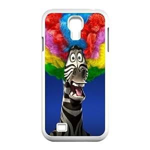 Afro Marty In Madagascar 3 Movie funda Samsung Galaxy S4 9500 caja funda del teléfono celular del teléfono celular blanco cubierta de la caja funda EVAXLKNBC28926