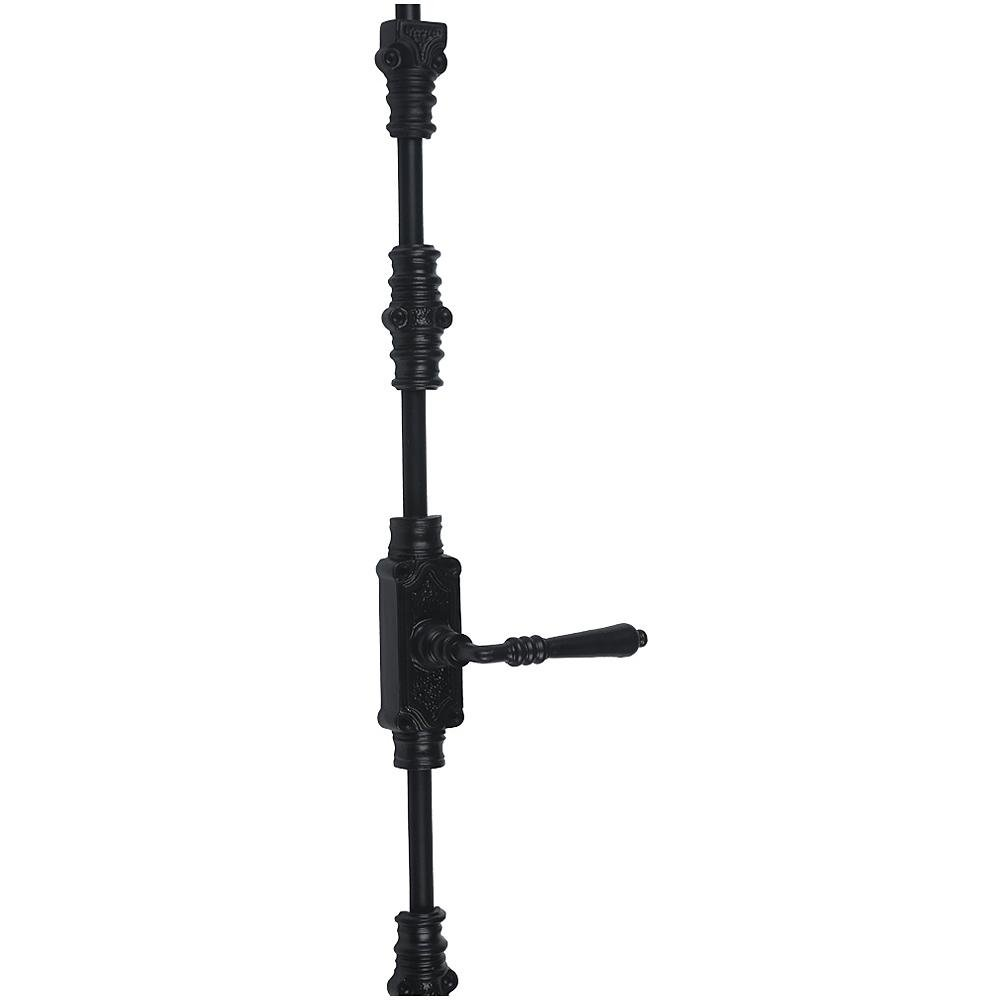A29 Hardware 9 Feet Iron Lever Style Door Cremone Bolt, Black Powder Coat Finish by A29 (Image #2)