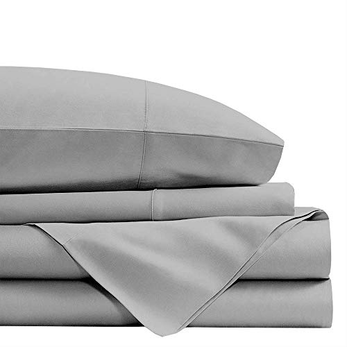 RRlinen Split Sheet Set 7-Piece Light Grey Solid Split Queen Size 9