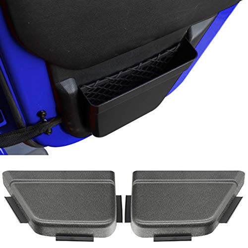 Auscoop DoorPocket Rear Door Storage Pockets Organizer Box for 2011-2018 Jeep Wrangler JK JKU 2/4-Door, Door Net Pocket Replacement, Interior Accessories, Black (Improved Version)