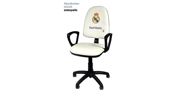 Camapolis Silla oficial Real Madrid con reposabrazos . (blanco): Amazon.es: Hogar