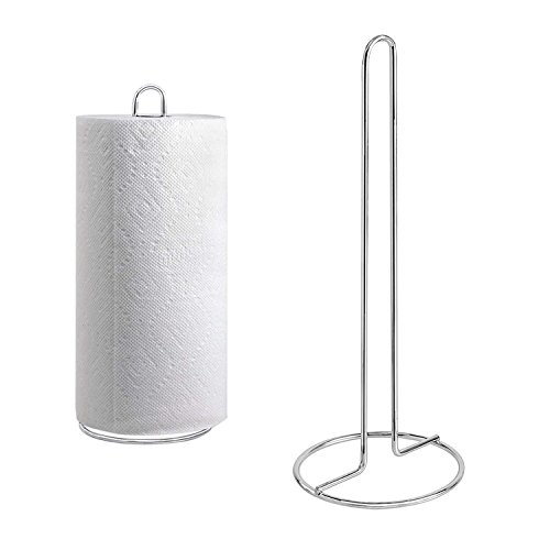 Kitchen Craft Chrome Plated Upright Paper Towel Holder Stand
