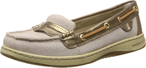 Sperry Top-Sider Women's Pennyfish Linen/Bronze Oxford Cloth Loafer 9.5 M (B)