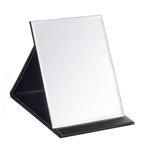 Desk Mirror, JOLY Pu Leather Portable Folding Desktop Makeup Mirror with Adjustable -