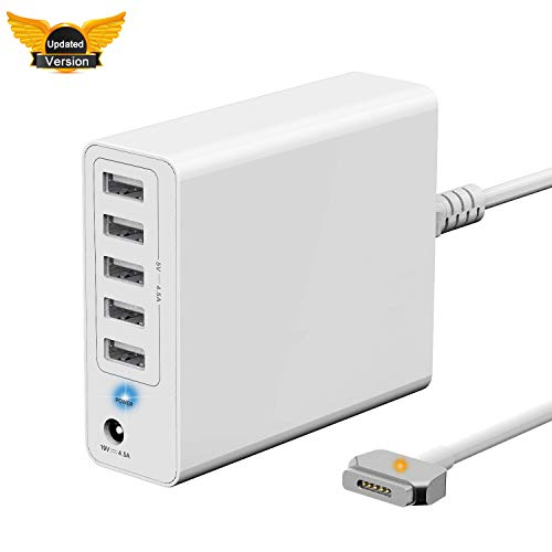 【Updated Version】 Wakeach 85W Wall Charger for MacBook Pro 15 inch Retina (Made Mid 2012-Mid 2015),Replacement for Magsafe 2 Power Adapter T-Tip mbp A1398 A1424 Portable Travel Power Supply