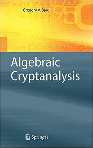 Read PDF Algebraic Cryptanalysis