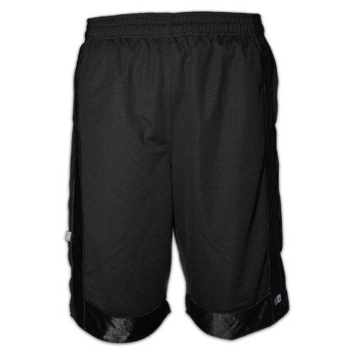 ProClub - Pro Club Heavy Weight Basketball Style Mesh Shorts (L, Black)