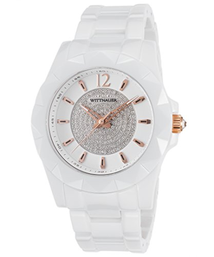 Wittnauer WN4014 Ceramic White Crystal Pave Setting Dial Ladies (Womens Wittnauer Ceramic Watch)