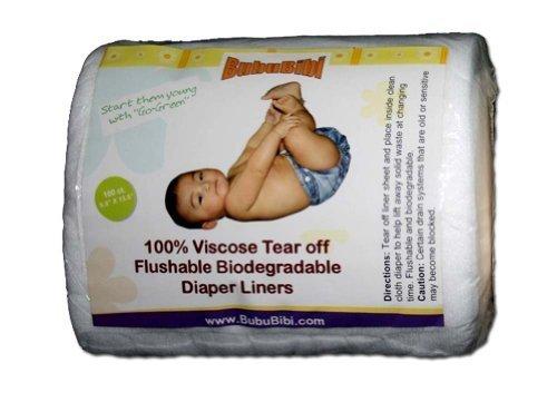(Viscose Biodegradable/ Flushable Liners for Dispoable or Cloth Diaper- BubuBibi)